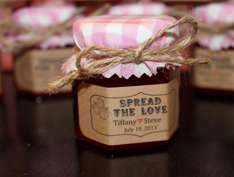 Homemade Jam Wedding / Shower / Party Favors / Gift