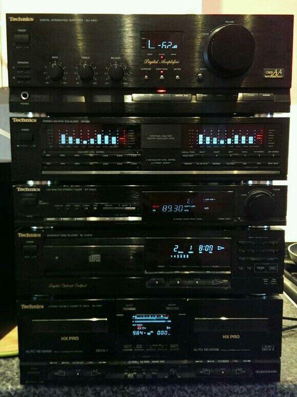 Technics Stereo Hifi System Seperates Class AA AMP EQ