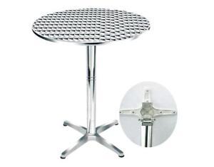 table cocktail aluminium