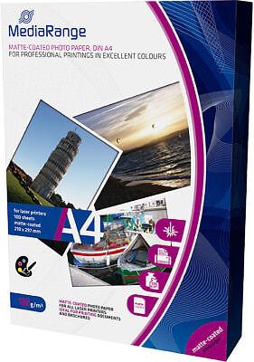 200 Mediarange Foto Papier 120g matt für Laser Drucker DIN A4