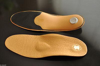LUXUS PREMIUM ® Orthopädische Einlegesohlen Leder Sohlen Schuhe Einlagen Fußbett