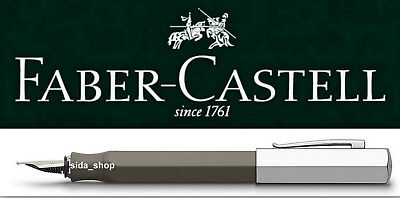 Faber-Castell ONDORO Füllfederhalter B Füller graubraun UVP 110€ *!bestprice!*
