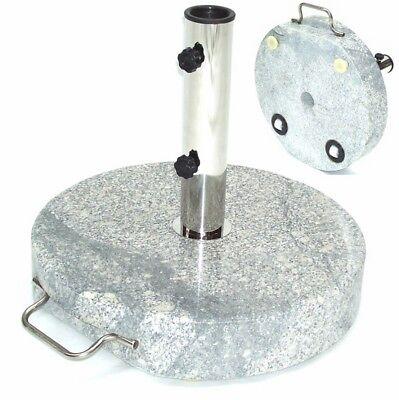 55885 Granit Sonnenschirmständer 30kg 45x7 Rollen Schirmständer Schirm Ständer