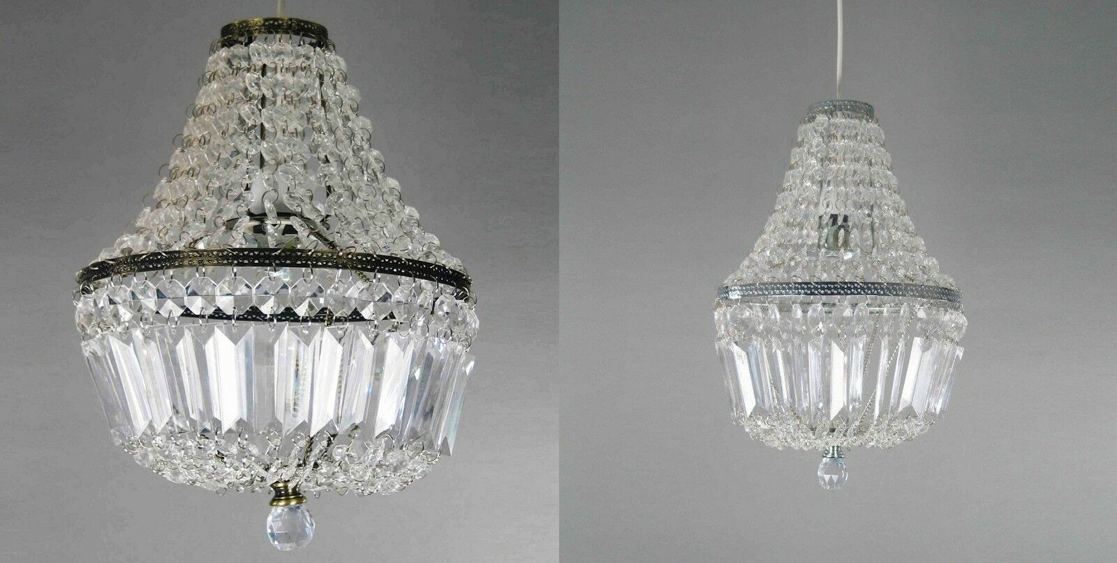 Clear Acrylic Beaded Lucille Ball Drop Pendant Ceiling