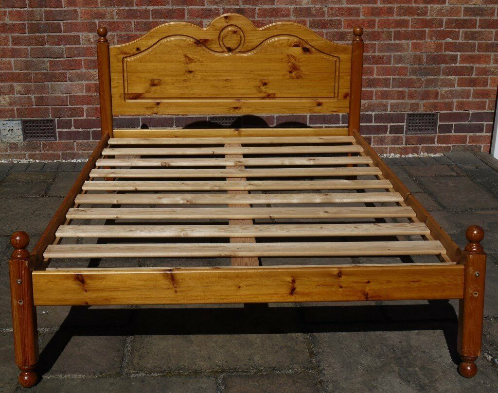 wooden standard bed all slats in excellent on Double Bed Slats id=20264