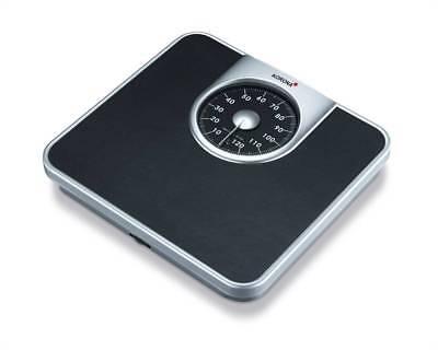 130kg/1kg Mechanische Personenwaage Doktorwaage analoge Waage Schwarz Silber NEU