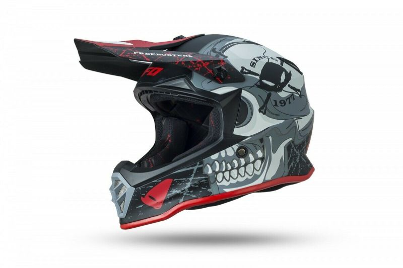 Casco Moto Cross Bimbo Bambino Ufo FreeBooters Junior Offroad Pit Bike Integrale