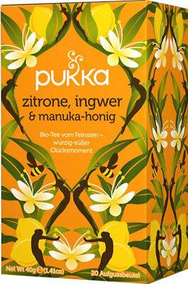 PUKKA Zitrone, Ingwer & Manuka-Honig 4 Pkg. à 20 Teebeutel