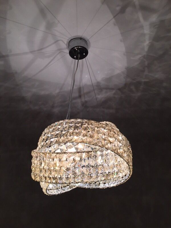 Next Crystal Champagne Glass Venetian Chandelier