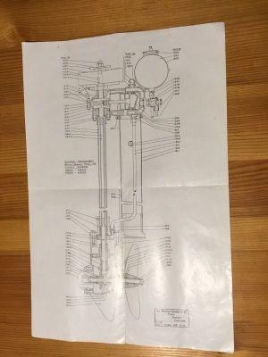 British Seagull 102 Plus parts, operating, diagram and