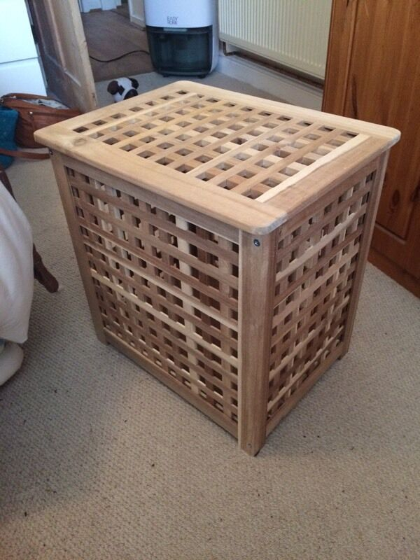 Ikea Skoghall Small Wooden Storage Box For Sale 48 X 36