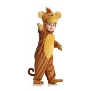 Underwraps Monkey Jumpsuit Animal Fur Plush Toddler Halloween Costume 26051