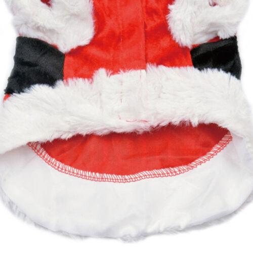 Chrismas Santa Costume Puppy Pet Dog Dress Apparel Hoodie Coat Clothing Outwear 10