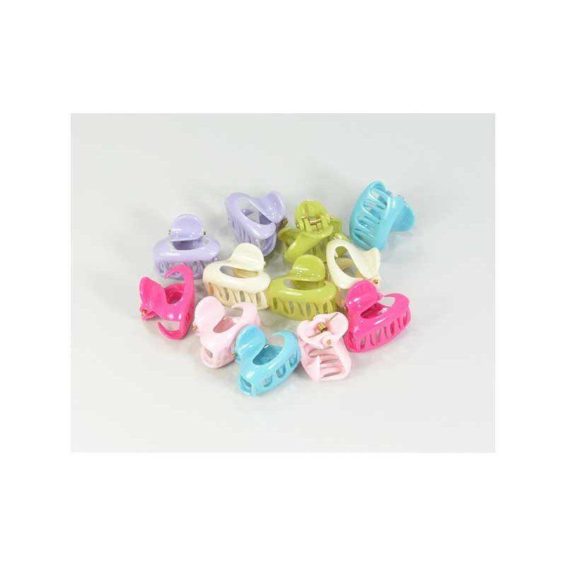 Mini Pinzette Klemme farbig Accessoire Friseur Haare Schönheit Bettbezug x 12