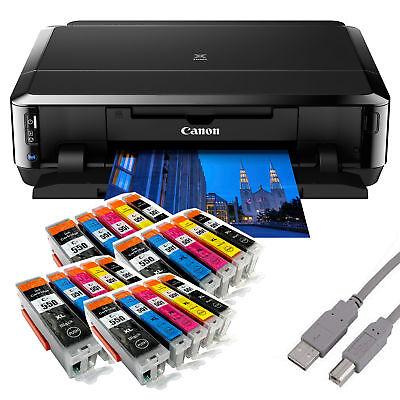Canon PIXMA IP7250 Tintenstrahldrucker mit WLAN USB CD/DVD-Druck + 20 Tinten