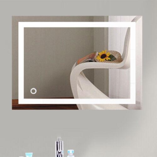 50*70cm 22W Wandspiegel LED Badezimmerspiegel Beleuchtet Bad Spiegel Kaltweiß