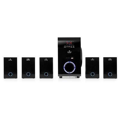 (B-WARE) 5.1 AKTIV FUNK LAUTSPRECHER BOX SET HEIMKINO SYSTEM USB SD MP3 PLAYER