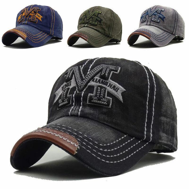 Herren Damen Baseball Cap Mütze Vintage Kappe Cowboy Verstellbar Kappe Sport Cap
