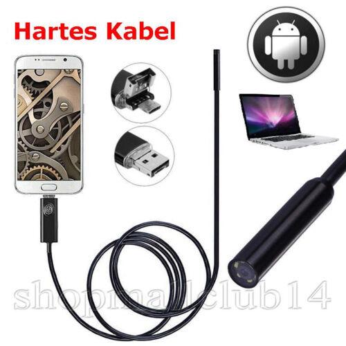 HARTES KABEL 5M USB Endoskop Kamera 5,5mm HD LED Inspektion für Handy Android PC