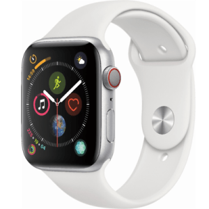Apple Watch Series 4 44mm Silver Aluminum White Sport Band GPS/Cellular MTUU2LL