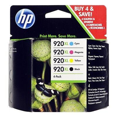 4x HP 920 XL ORIGINAL OFFICEJET 6000 6500 7000 7500 PRO TINTE PATRONEN SPAR SET