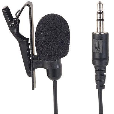 Ansteckmikrofon: Mini-Ansteck-Kondensator-Mikrofon für Smartphone, Tablet & PC