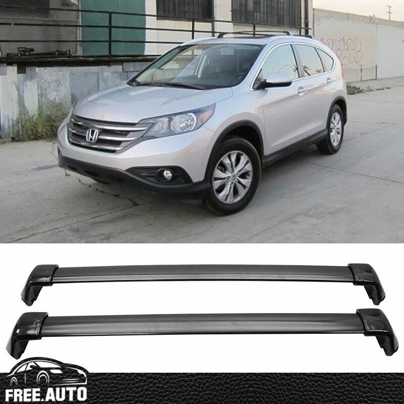 details about fit for 12 16 honda crv top roof rack cross bar oe style black polish