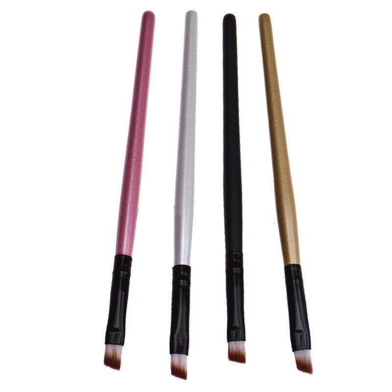 Augenbrauenpinsel Lidschattenpinsel schräge Spitze schwarz weiß rosa gold