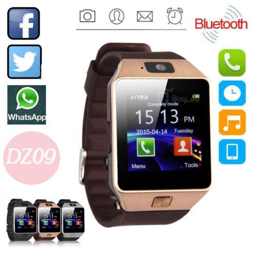 DZ09 Smartwatch Uhr mit Bluetooth Telefon MP3/4 Sport GSM SIM für Handy Gold