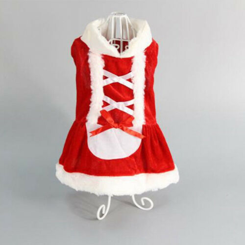 Chrismas Santa Costume Puppy Pet Dog Dress Apparel Hoodie Coat Clothing Outwear 9