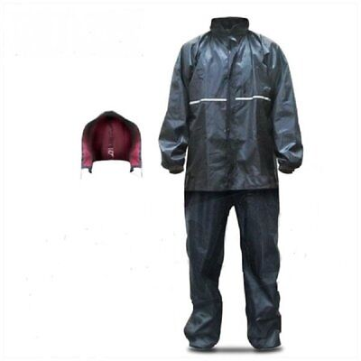 MKX Motorrad Regenkombi 3teilig Jacke , Hose + Mütze in blau Gr. S- XL