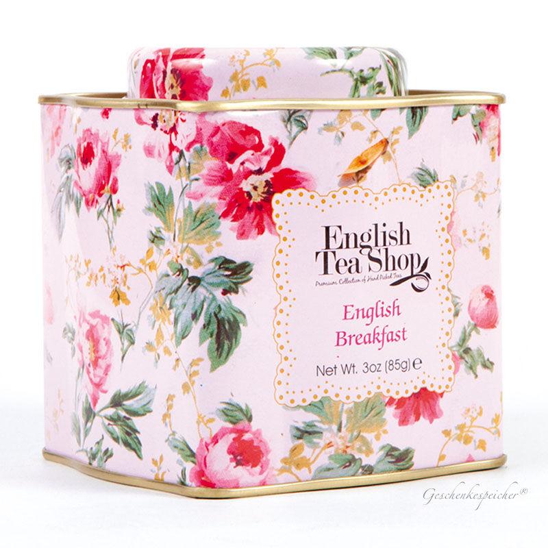 TEE GESCHENK TEEDOSE ENGLISH TEA SHOP ENGLISH BREAKFAST FLORAL SHABBY CHIC