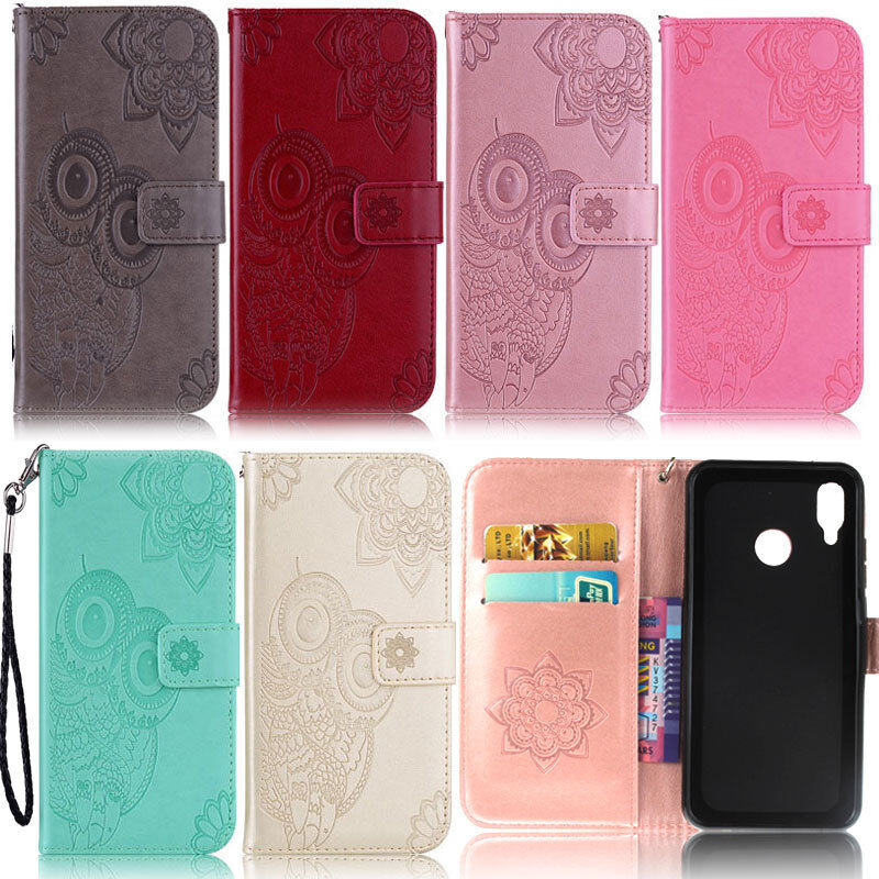 Details About Owl Wallet Leather Flip Case Cover For Huawei P30 P20 Lite Honor 10 Lite Mate 20