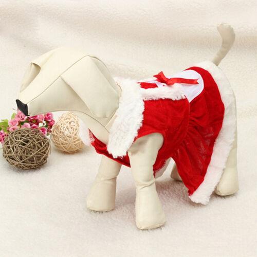 Chrismas Santa Costume Puppy Pet Dog Dress Apparel Hoodie Coat Clothing Outwear 7