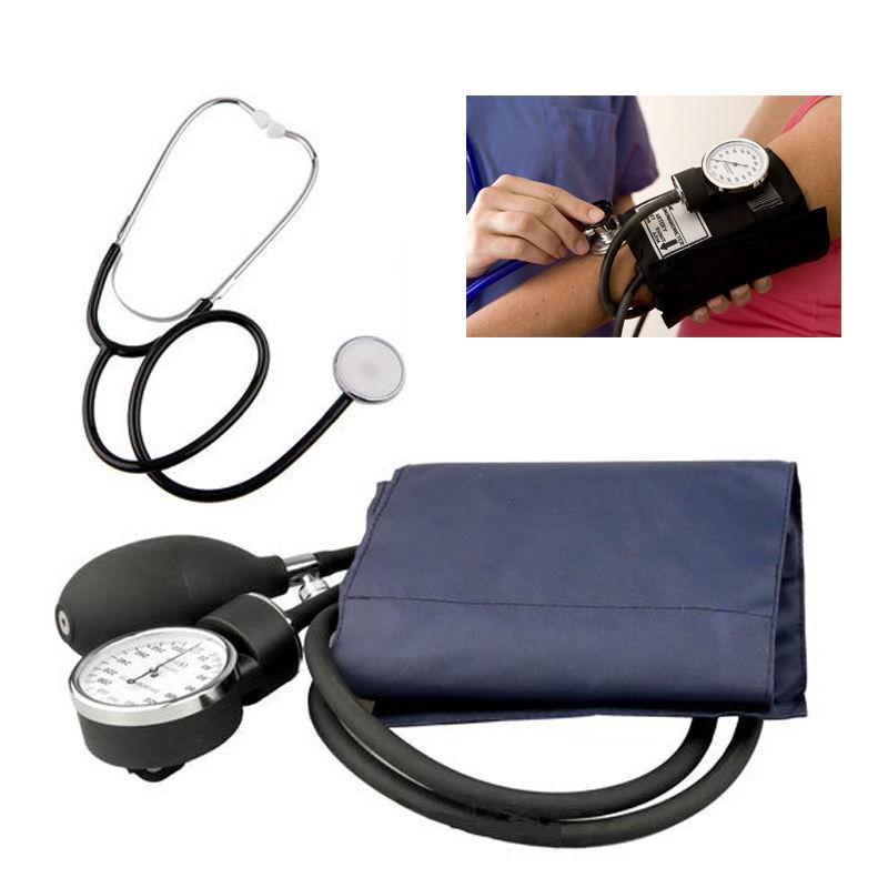 Aneroid Analoge Manual Blutdruckmessgerät Oberarm mit Manschette Stetoskop