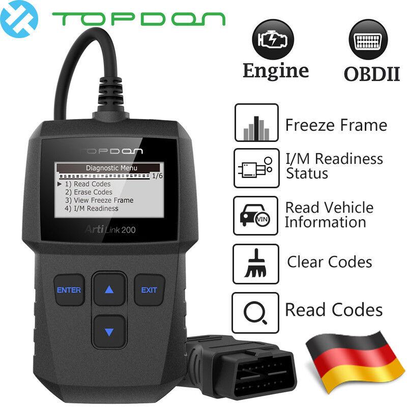 EOBD Diagnosegerät OBD2 Scanner CAN Auto Autofehler Auslesegerät KFZ PKW Reader