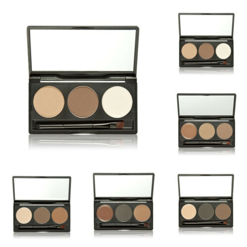 3 Farben Augenbrauen Make-Up Set Kosmetik Augenbrauenpuder-mit Pinsel & Spiegel