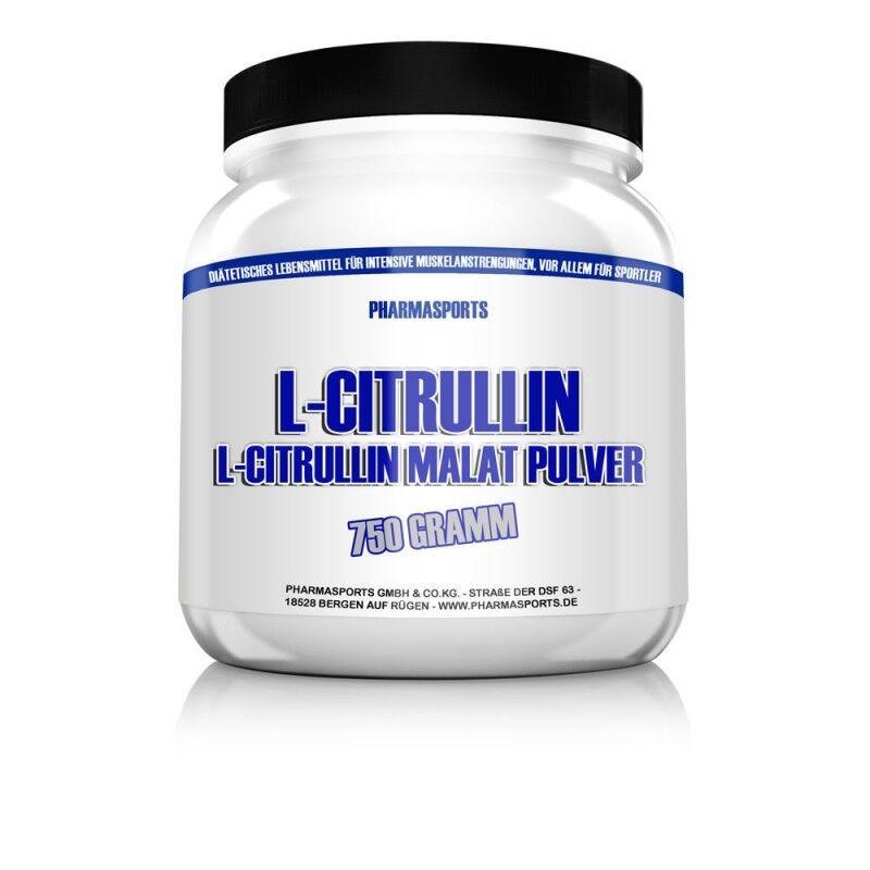 Pharmasports L-Citrullin Pulver 750g reines Citrullin Malat ohne Zusätze