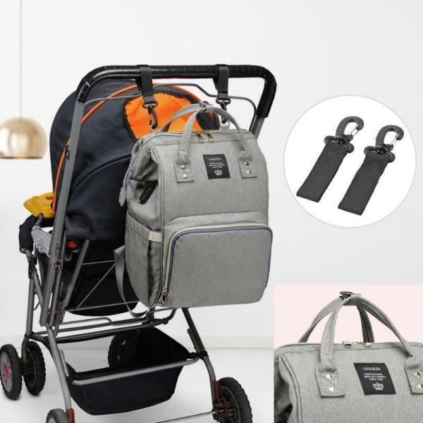 LEQUEEN Waterproof Diaper Bag USB Charging Large Capacity Mummy Nursing Backpack 1