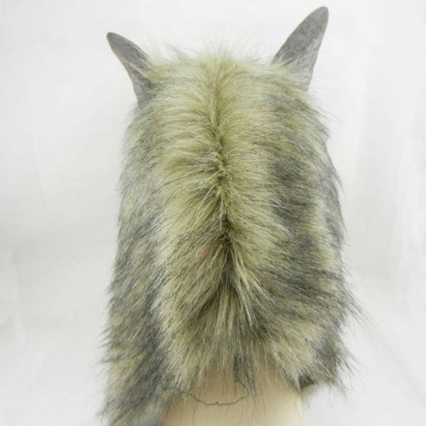 Adult Halloween Mask Full Face Wolf Head Cosplay Costume Party Props Hood Cover 3