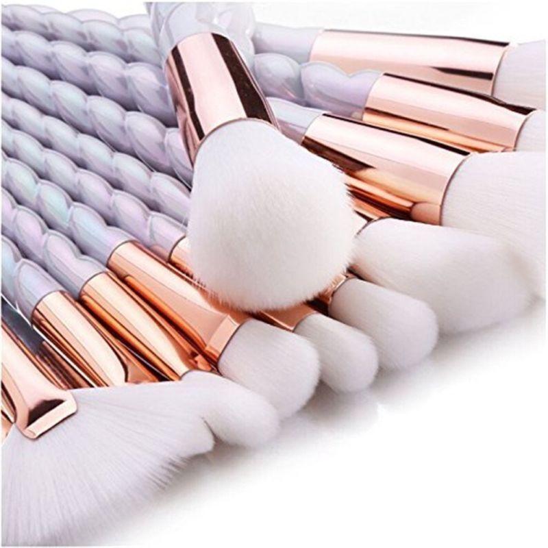 10tlg. Make Up Pinsel Set Kosmetik Make up Bürsten Pinsel Kit für Foundation
