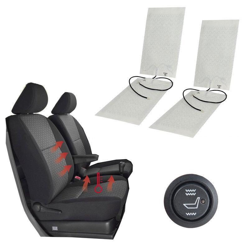 2 Sets Auto Sitzheizung Carbon Heizmatten Universal KFZ PKW 2 Stufe Schalter