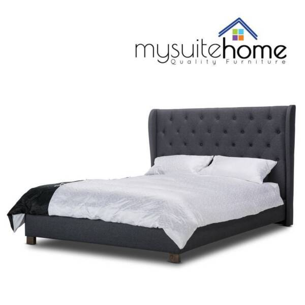 Rhea Fabric Bed Frame With Winged Head Beds Gumtree Australia Melbourne City Cbd 1178571862