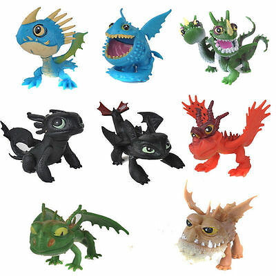 How to Train Your Dragon Action Figures 8 pcs Set Toothless Night Fury Nadder
