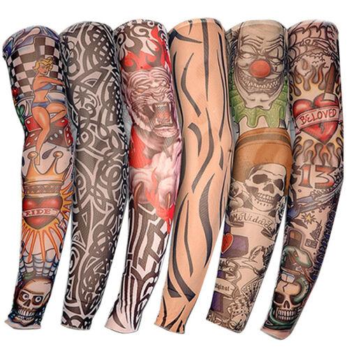 Männer Tattoo Ärmel Arm Sleeve Strümpfe Stulpe Karneval Fasching Kostüme Beliebt