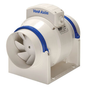 Vent Axia Acm100t In Line Mixed Flow Fan With A Timer
