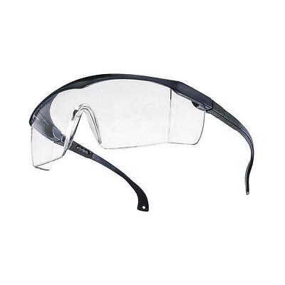 TECTOR Basic Schutzbrille ★ Blau/Klar | EN 166 | Verstellbare Bügel | Kratzfest