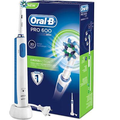 Braun Oral-B PRO 600 - 3D Cross Action - elektrische Zahnbürste - NEU + OVP