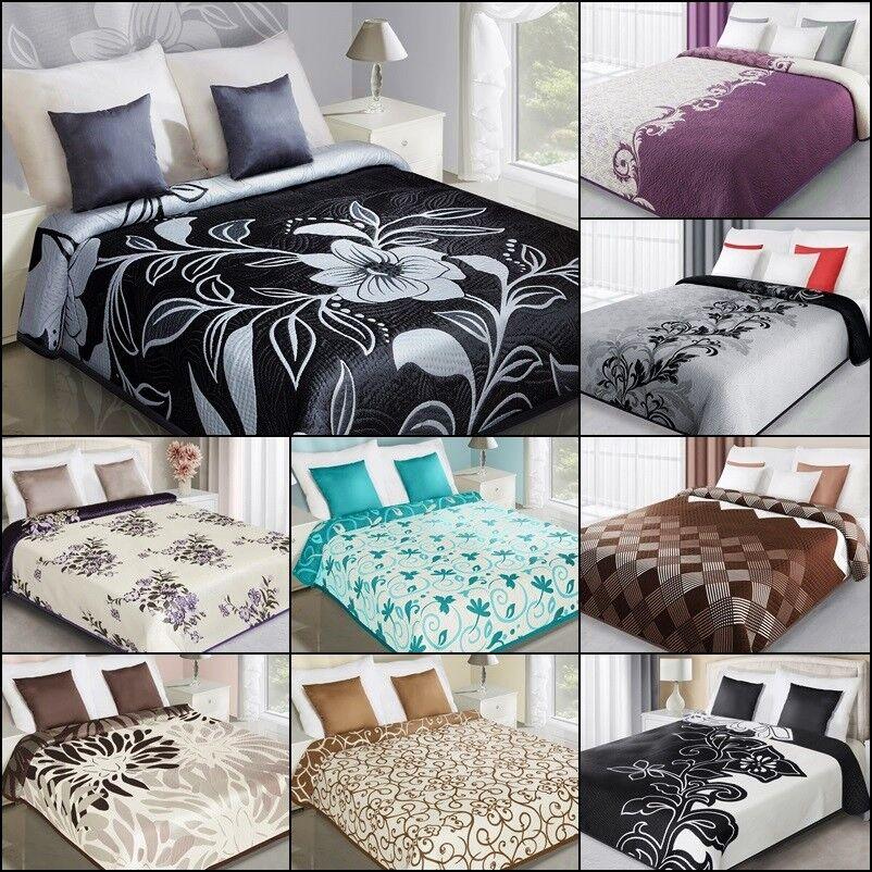 Zweiseitige Tagesdecke Bettüberwurf doppelseitig 170X210 220X240 230x260 ELEGANT