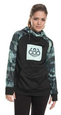 NWT Women's 686 Cora Bonded Pullover Hoodie DWR Waterproofing UPF 40+ SIZE M